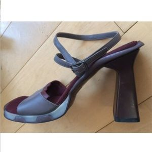 Kenneth Cole Made in Italy Sandals Open Heels 8.5
